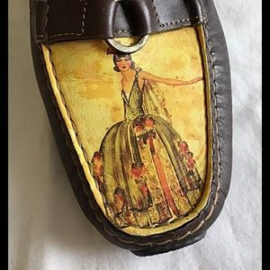 """ICON Hand-Painted Mules 9.5"""""""